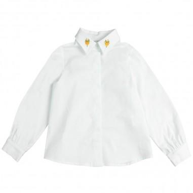 Piccola Ludo Camicia cotone ricamo volpe mallivolpetes0264001
