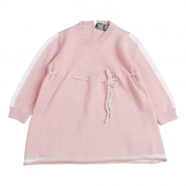 Giorgetti Abito cashmere rosa per neonata MB1321-Rosa