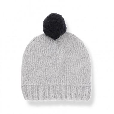 1+ In the Family Cappello tricot grigio con pompon per neonati SIENA-grigio-28