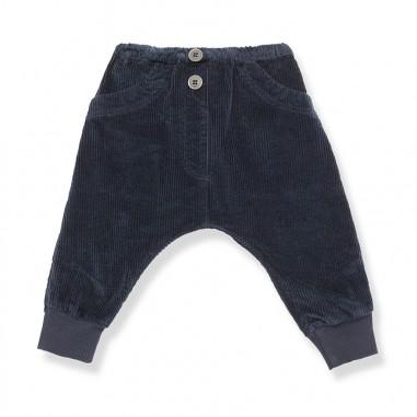 1+ In the Family Pantalone blu velluto costine baggy per neonati KYRIL-blu-28