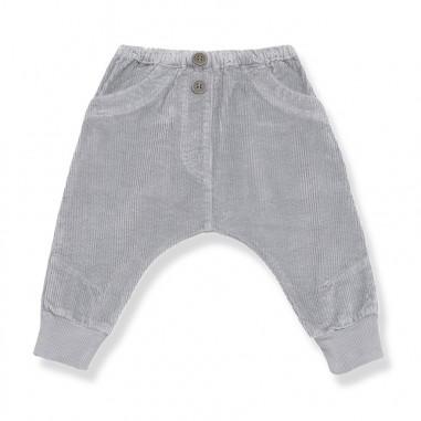 1+ In the Family Pantalone grigio velluto baggy per neonati KYRIL-grigio-28