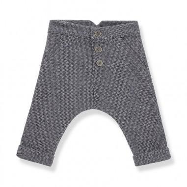 1+ In the Family Pantalone jacquard blu per neonati FITZ-blu-28