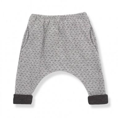 1+ In the Family Pantalone jacquard grigio per neonati THERESE-grigio-28