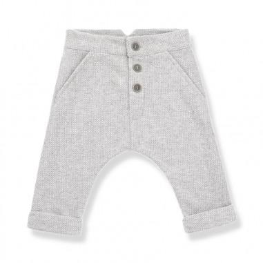 1+ In the Family Pantalone jacquard grigio per neonati FITZ-grigio-28