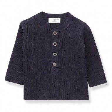 1+ In the Family T-shirt serafino jersey blu per neonato MATT-blu-28