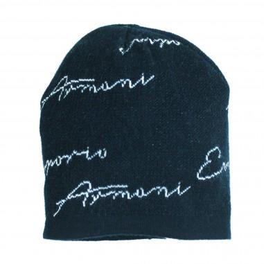 Armani junior Cuffia firmata blu per bambino - Emporio Armani Junior 4045758A527-11336