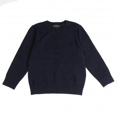 Armani junior Maglia viscosa  blu per bambino - Emporio Armani Junior 6Z4MA11MPQZ-0924
