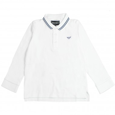 Armani junior Polo righe rilievo per bambino - Armani Kids 8N4F361JPTZ-0100
