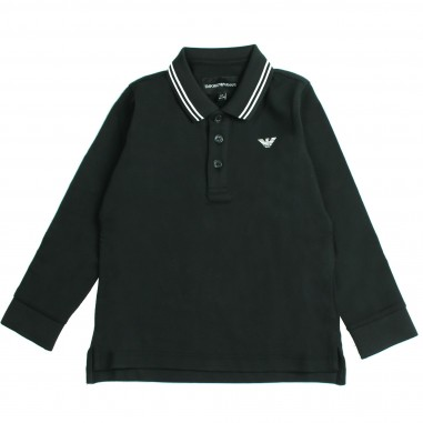 Armani junior Polo righe rilievo per bambino - Armani Kids 8N4F361JPTZ-0999
