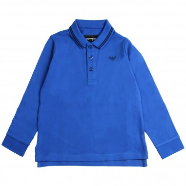 Armani junior Polo righe rilievo per bambino - Emporio Armani Junior 8N4F361JPTZ-0945