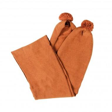 Babe&Tess Sciarpa arancione caldo cotone bambina wr24-r093