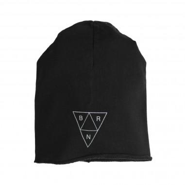 Berna Kids Unisex black cotton hat for kids 8053HA-Nero