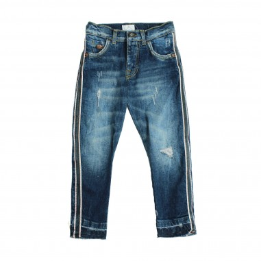 Berna Kids Jeans blu con bande per bambino 8043JE-Blu
