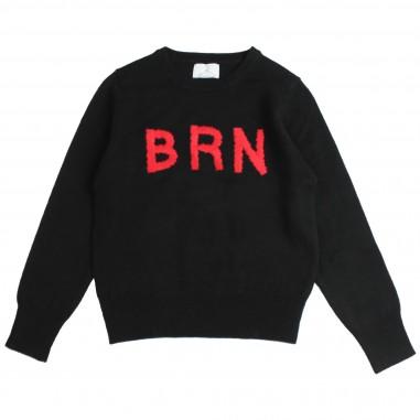 Berna Kids Maglia nera in lana per bambini 8067MA-Nero