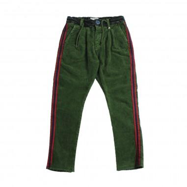 Berna Kids Pantalone velluto verde per bambini 8049PA-Verde