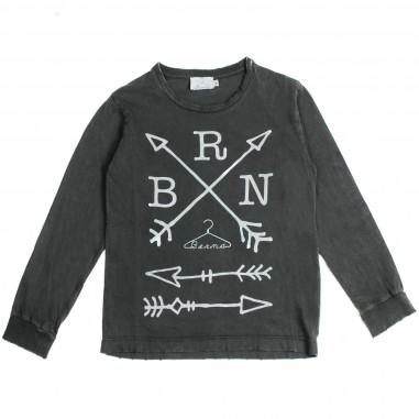 Berna Kids T-shirt antracite logo per bambini 8023TS-Grigio