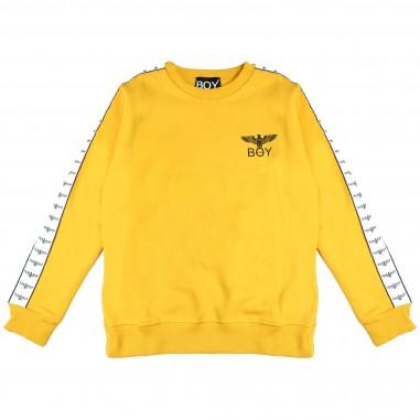 Boy London Felpa gialla con bande per bambini GFBL1832228J