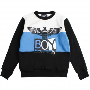 Boy London Felpa nera aquila boy london per bambini GFBL183235J