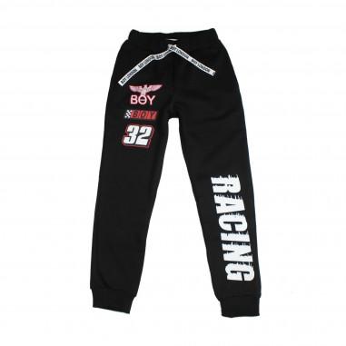 Boy London Pantalone felpa nero per bambino PFBL183215J