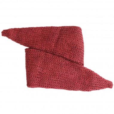 Caffè d'Orzo Fascia capelli rossa tricot per bambina ELVIA-28-Rosso