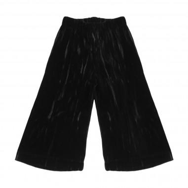 Caffè d'Orzo Pantalone palazzo nero in velluto per bambina PERLA-nero28