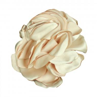 Caffè d'Orzo Spilla fiore in seta per bambina EVA-28-Naturale