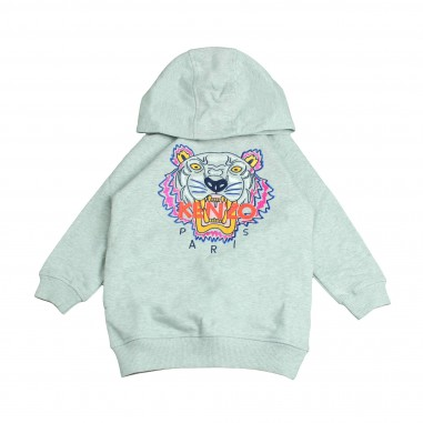 Kenzo Abito grigio logo tiger per bambina Kenzo Kids KM30048-25