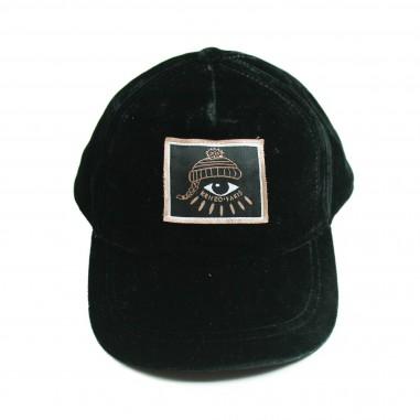 Kenzo Cappello velluto nero per bambini Kenzo Kids KM90028-29