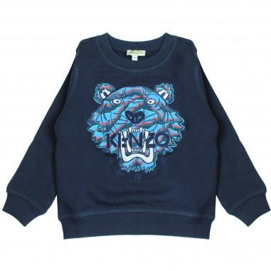 Kenzo Felpa blu logo tiger per bambini Kenzo Kids KM15698-04