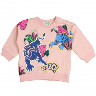 Kenzo Felpa rosa fantastic per bambina Kenzo Kids KM15057-33