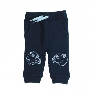 Kenzo Pantalone felpa blu per neonati Kenzo Kids KM23517-04