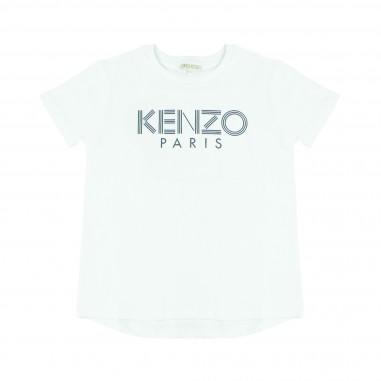 Kenzo T-shirt bianca scritta per bambini Kenzo Kids KM10508-01