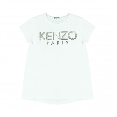 Kenzo T-shirt bianca scritta per bambini Kenzo Kids KM10008-01