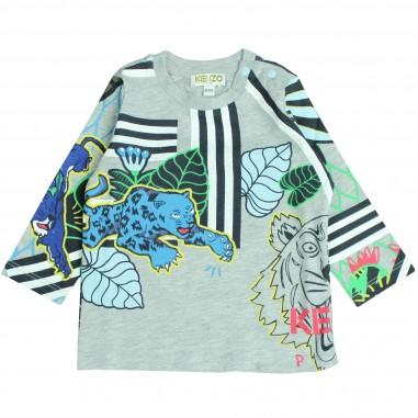 Kenzo T-shirt grigia fantastic per neonati Kenzo Kids KM10598-BB-25