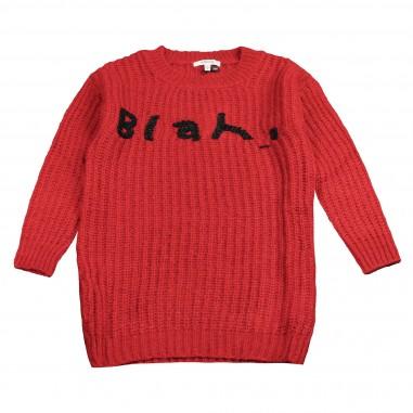 Kocca Maxi maglia rossa per bambina NOTES-28-koc
