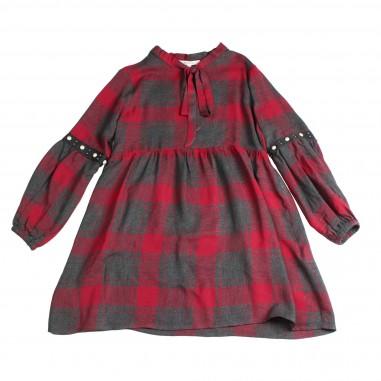 Kocca Miniabito scozzese rosso bambina FIANDRA-28-koc