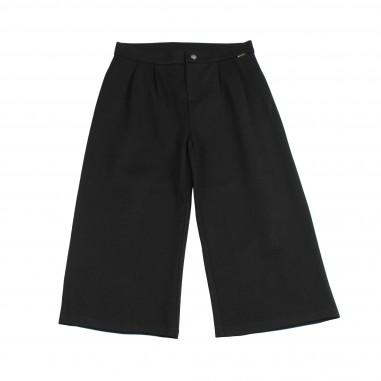 Kocca Pantalone cropped palazzo nero per bambina TRIMEY-28-koc