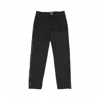Kocca Pantalone Denim nero con pailettes per bambina MADRID-28-koc