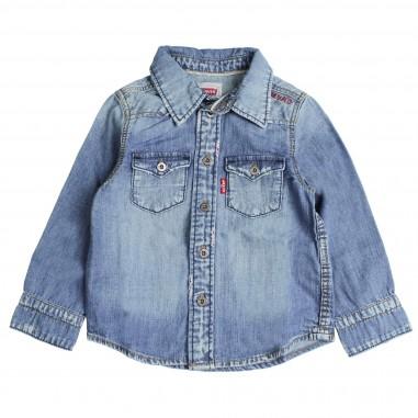 Levi's Camicia di jeans blu per bambini by Levi's Kids NM12047-46