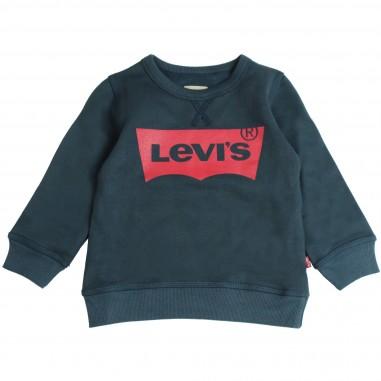 Levi's Felpa blu logo per bambini by Levi's Kids N91500J-04
