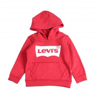 Levi's Felpa rossa cappuccio & logo per bambini by Levi's Kids N91503A-03