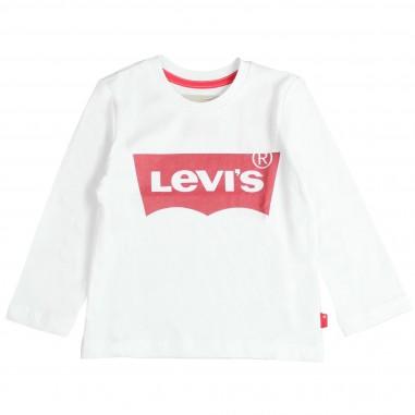 Levi's T-shirt bianca box logo per bambini by Levi's Kids N91005H-01