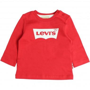 Levi's T-shirt rossa box logo per neonati by Levi's Kids NM10104-36