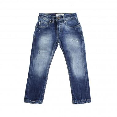 Manuel Ritz Jeans denim stretch blu per bambino 452-RITZ28