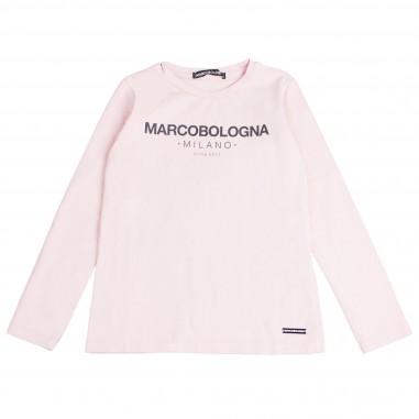 Marco Bologna T-shirt rosa con logo per bambina 2341M0117-28-Rosa