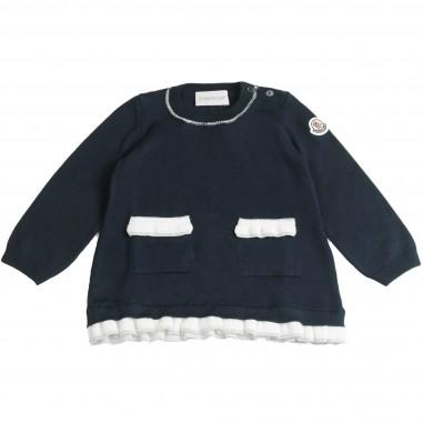 Moncler abito tricot blu per neonata by Moncler Kids 19554905979CD