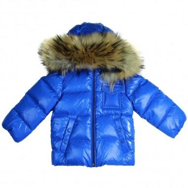 Moncler k2 giubbotto azzurro per neonati by Moncler Kids 1419872568950-709