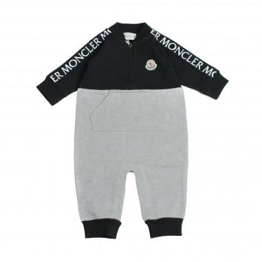 Moncler pagliaccetto bicolore per neonato by Moncler Kids 1850700580996