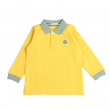 a6045a20edea Boys yellow Polo shirt by Moncler Kids