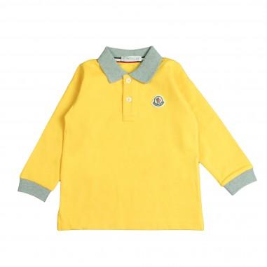 Moncler polo manica lunga gialla per bambini by Moncler Kids 1830775084633-127